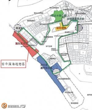「安平滨海游憩区」位於云嘉南风景区及安平港国家历史风景区交会